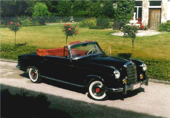 Zoek Auto Met Oldtimer Mercedes Cabrio